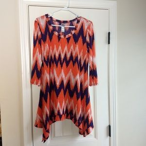 Orange and Purple Tunic